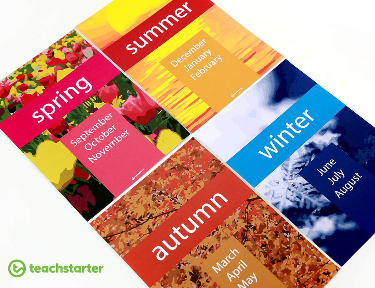 Seasons Posters for the Classroom