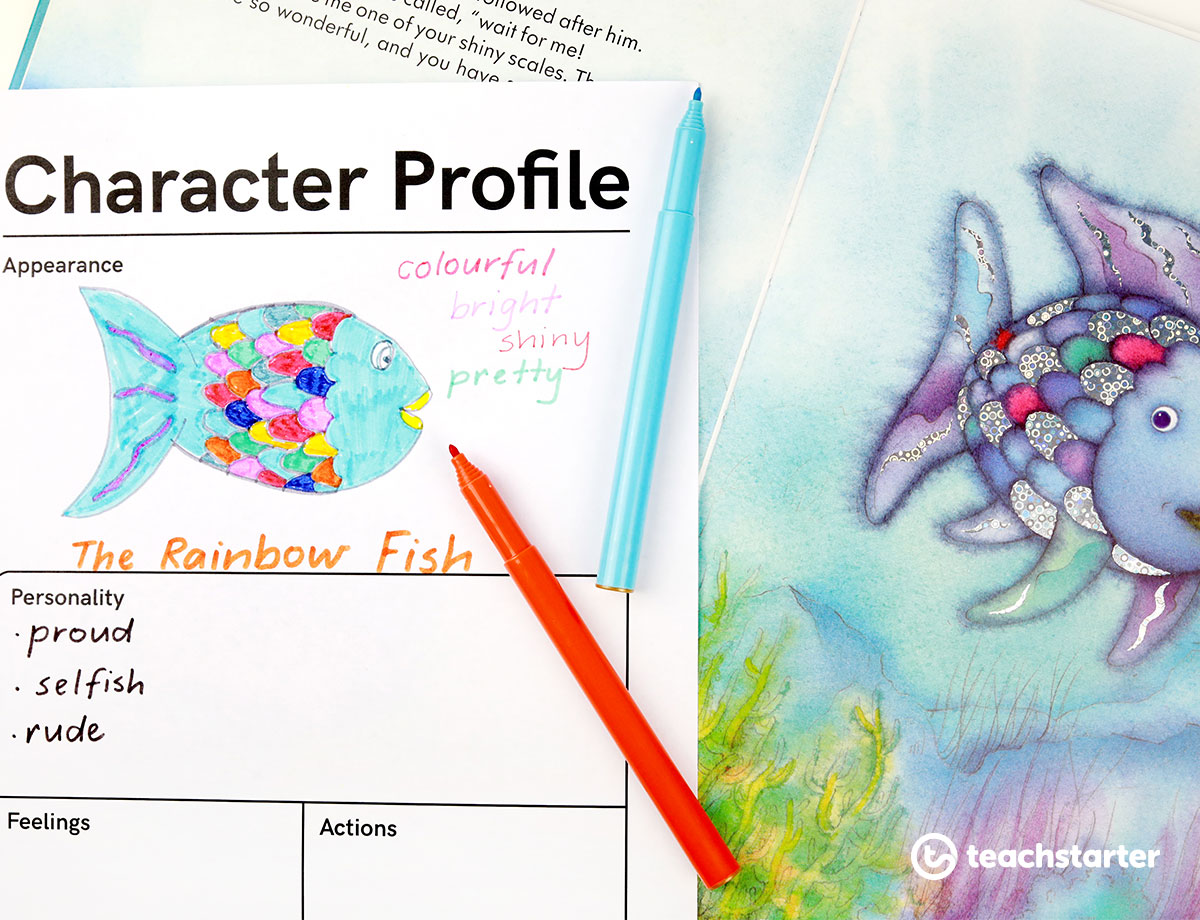 Rainbow Fish Character Profile Template