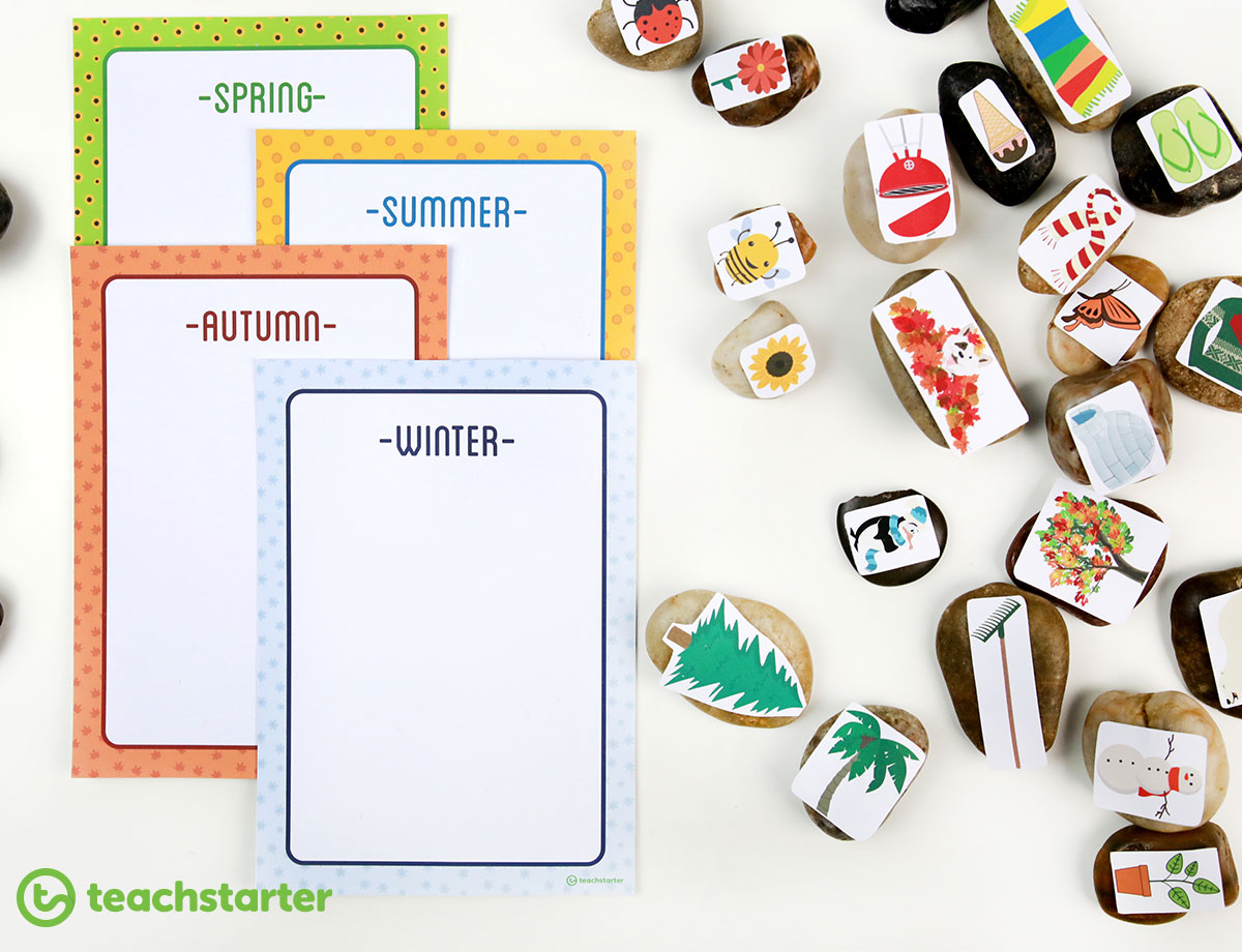 Seasons Sorting Activity