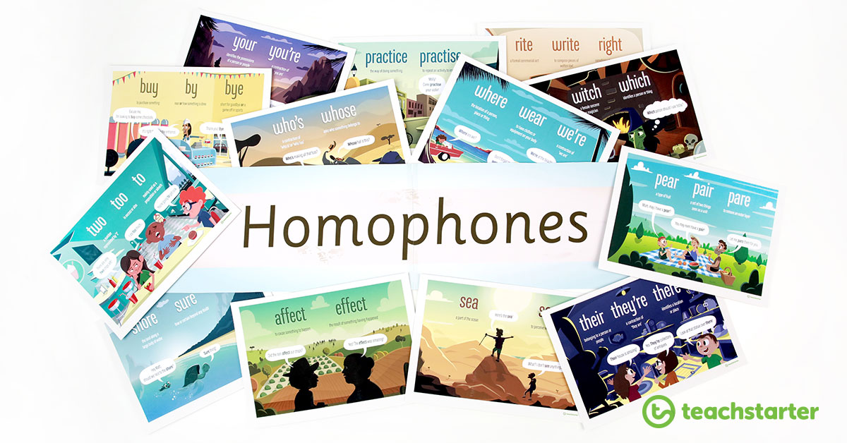Homophones Banner with poster set