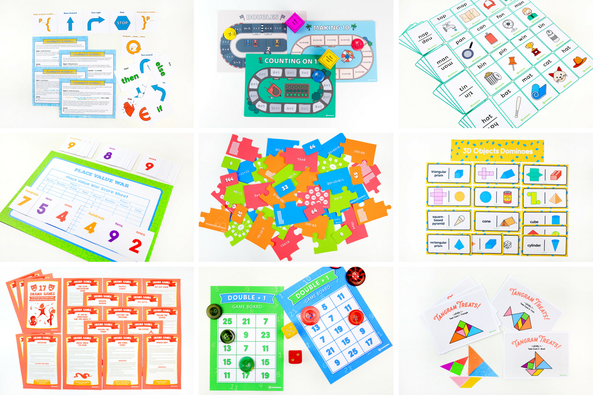 Printable Classroom Games for Primary and Elementary Students