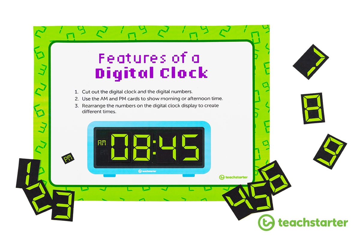 digital clock hands on activity