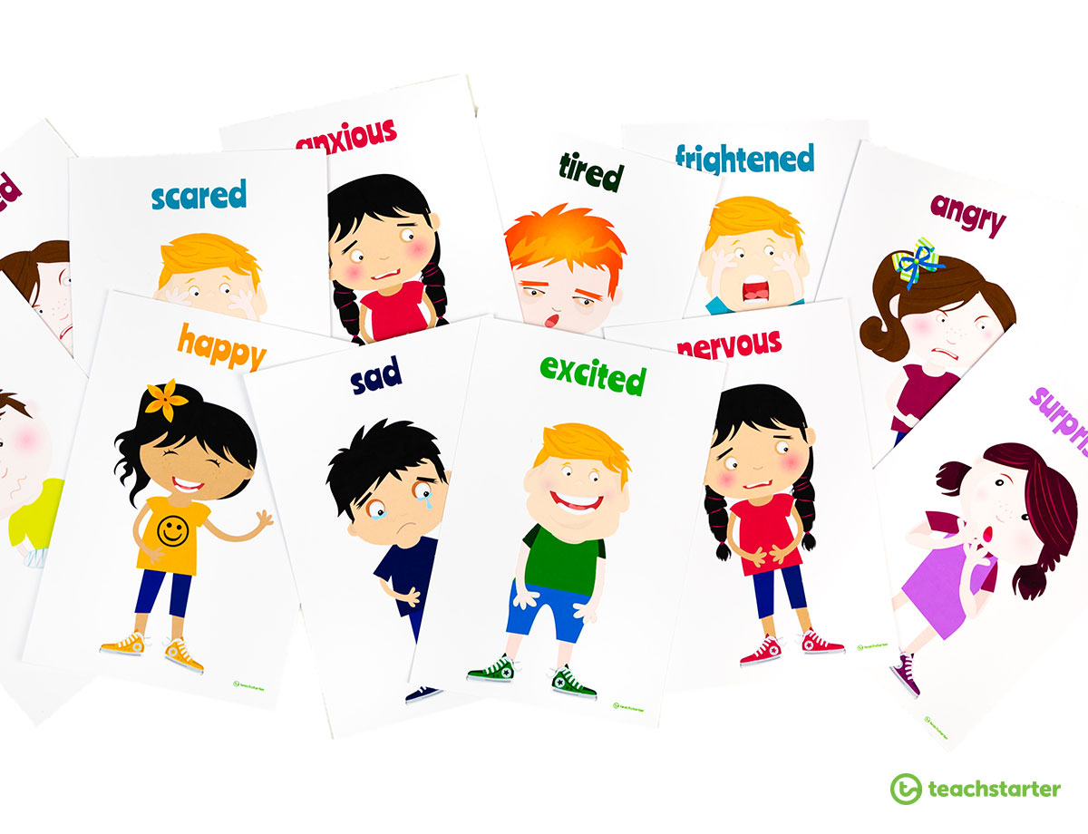Feelings Flashcards for the Classroom