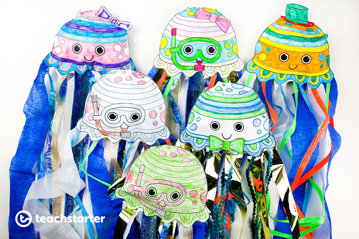 sea jelly or jellyfish craft activity