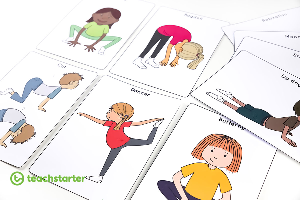 Download These Great Yoga Poses For Kids Posters