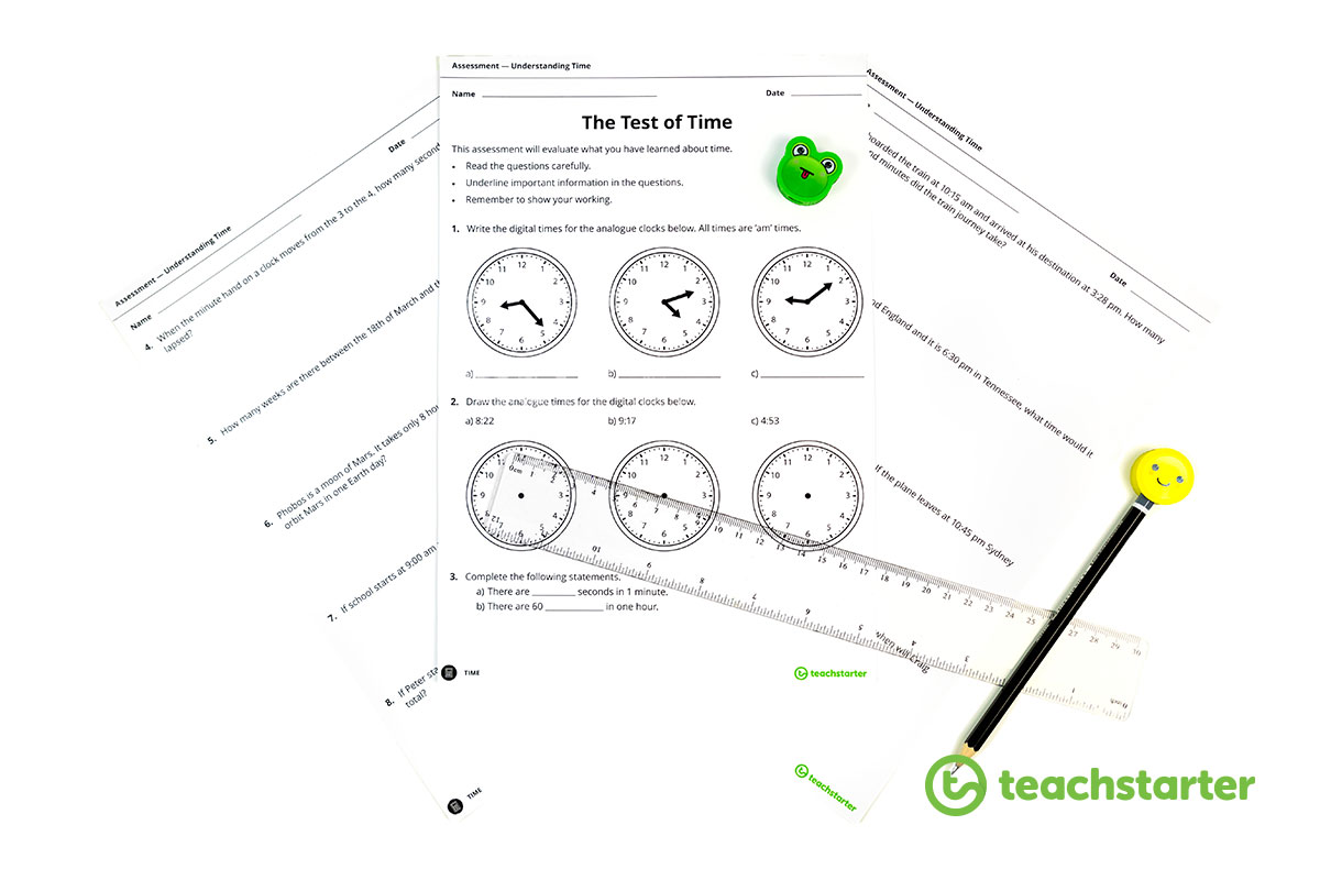 time assessment task - printable exam