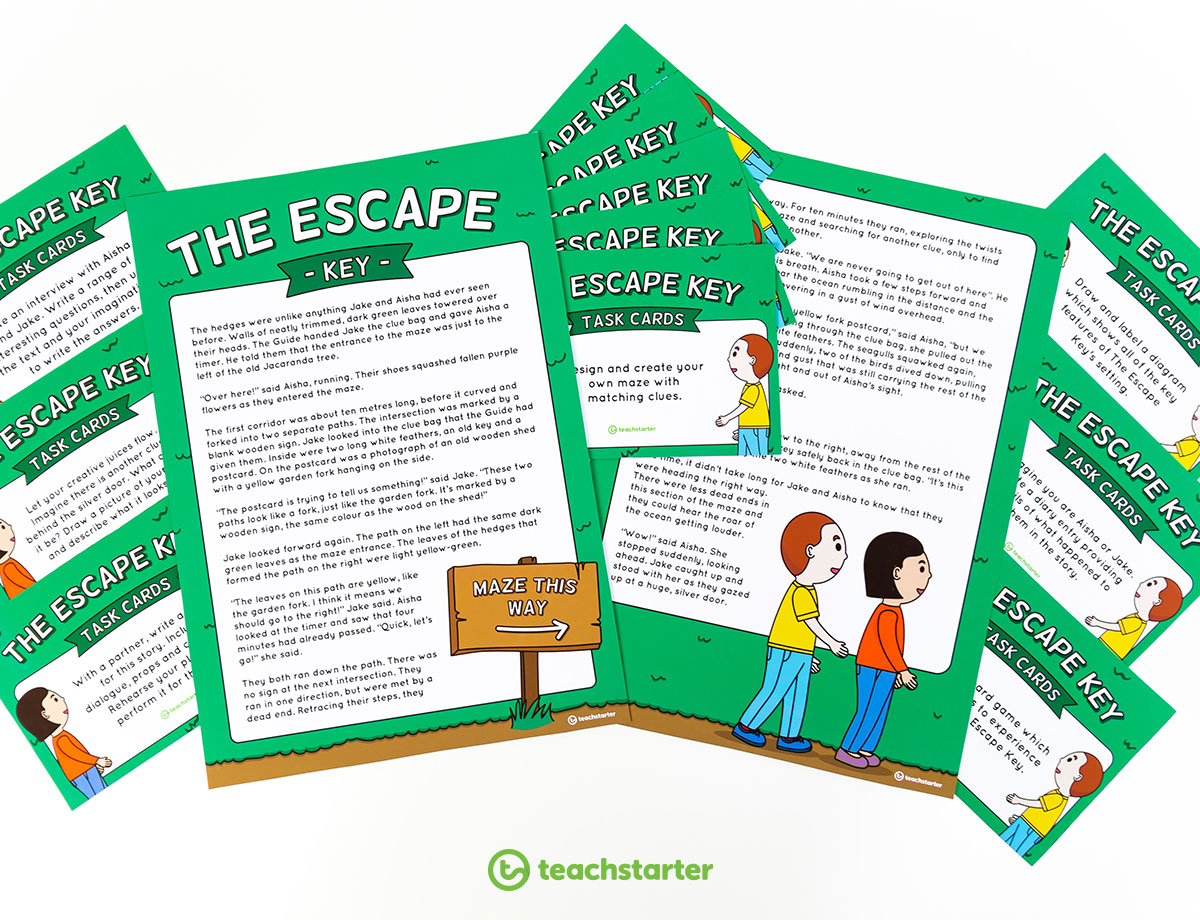 The Escape Key - Story and Task Cards