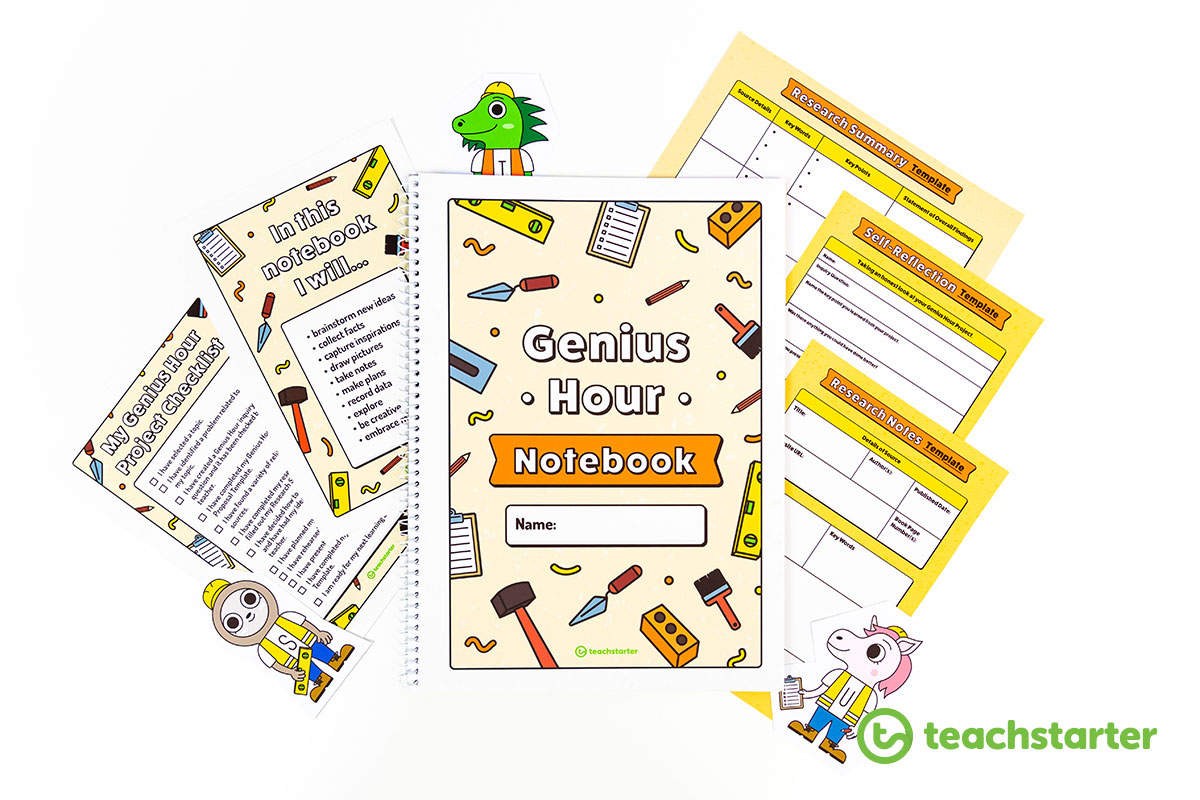genius hour student notebook and handouts