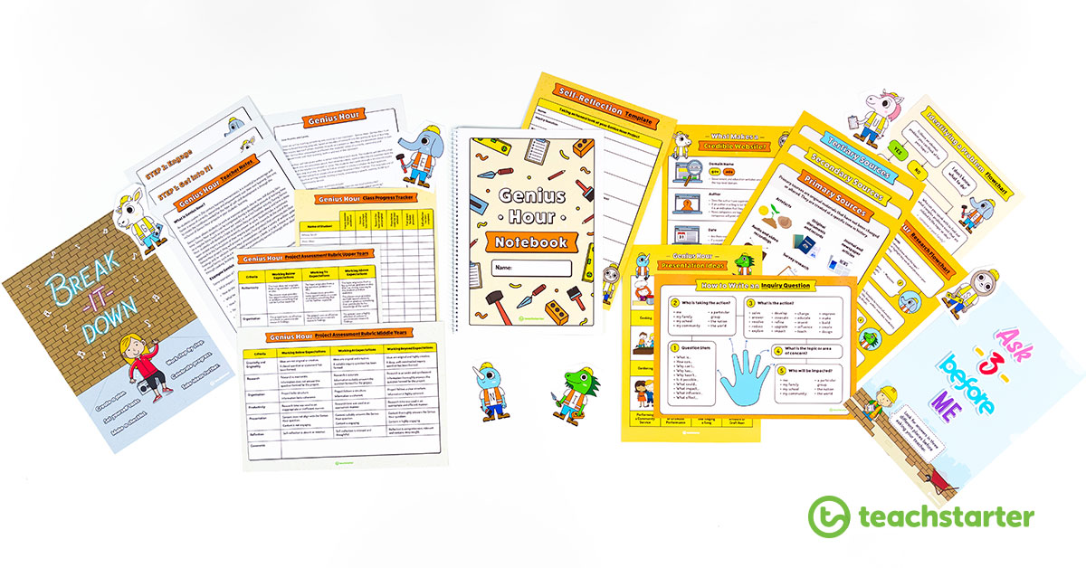 printable genius hour resources