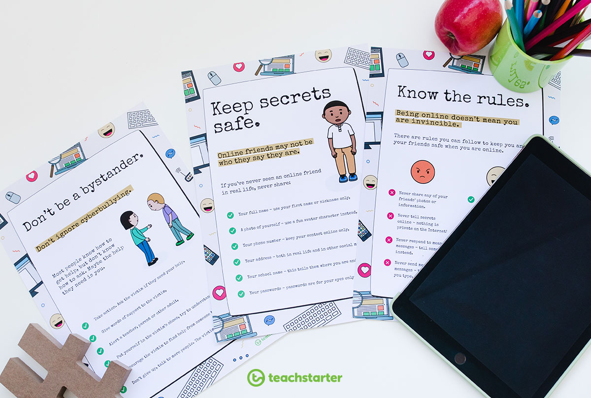 Cyber Safety Posters for the Classroom