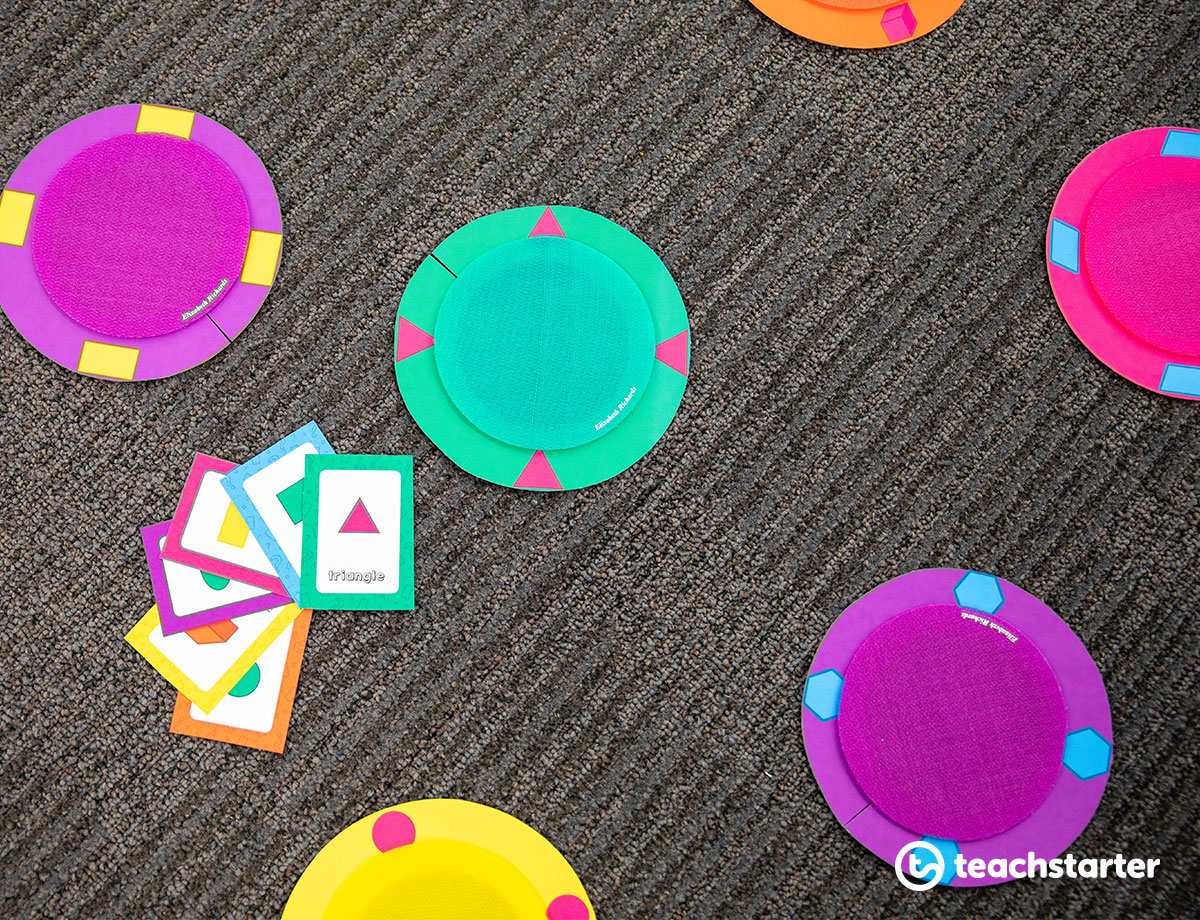 Learn and Play Spots | Printable Resource Used With Velcro Carpet Dots