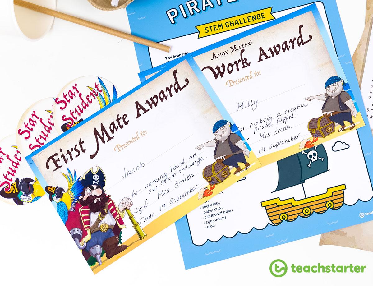 Student award - pirate theme