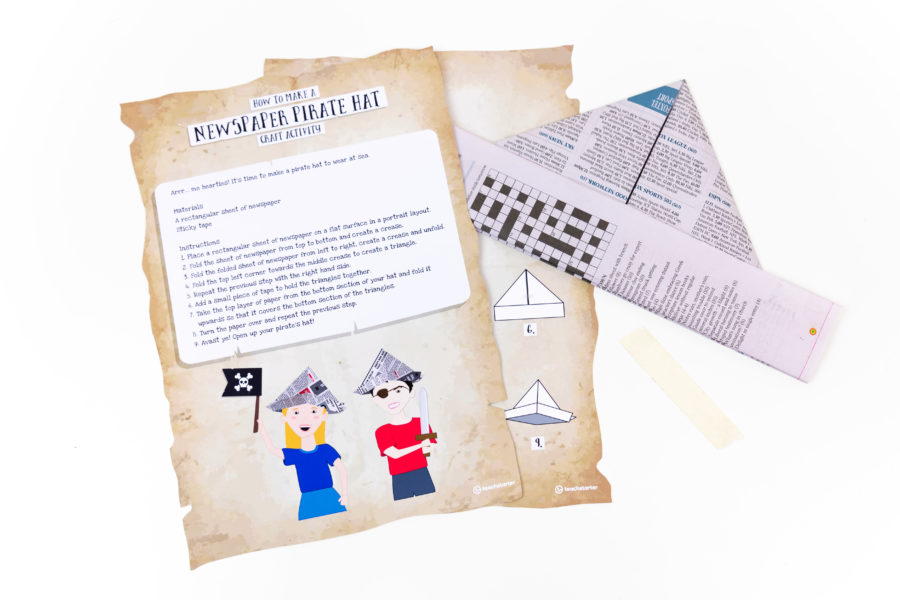 How to make a newspaper pirate hat