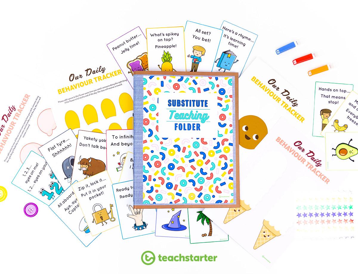 Substitute Teaching Folder Templates