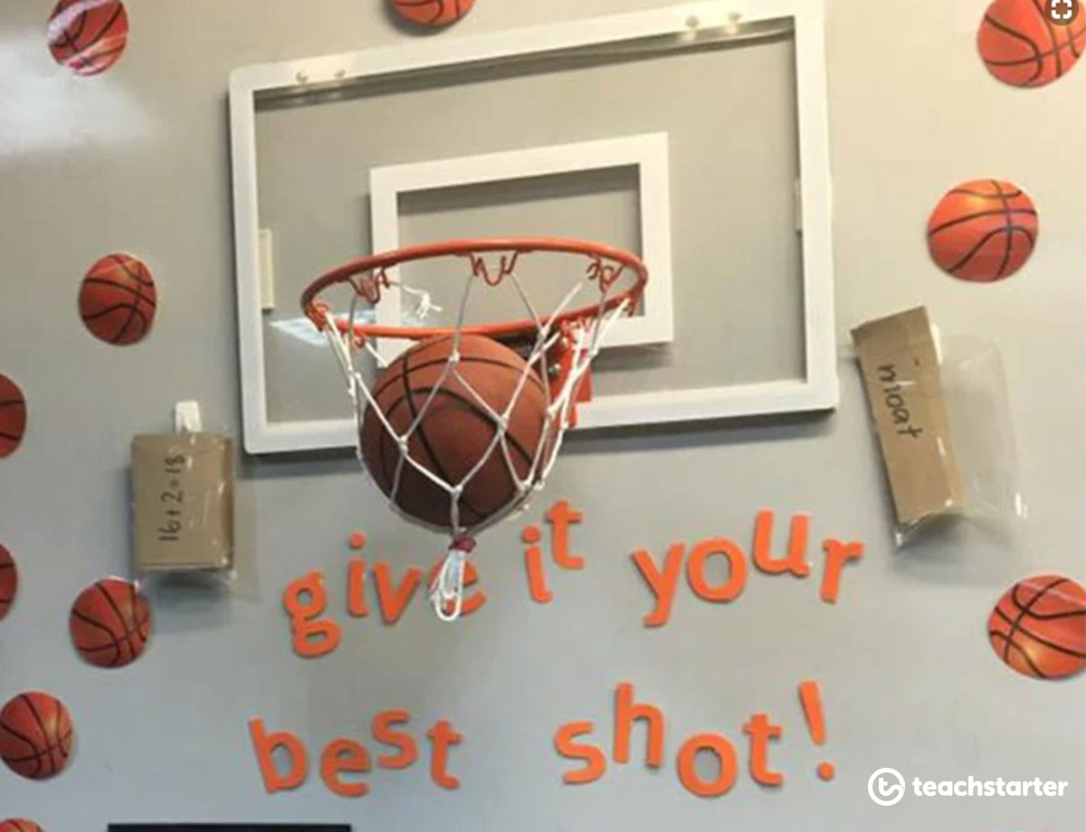 Using a basketball hoop in your classroom