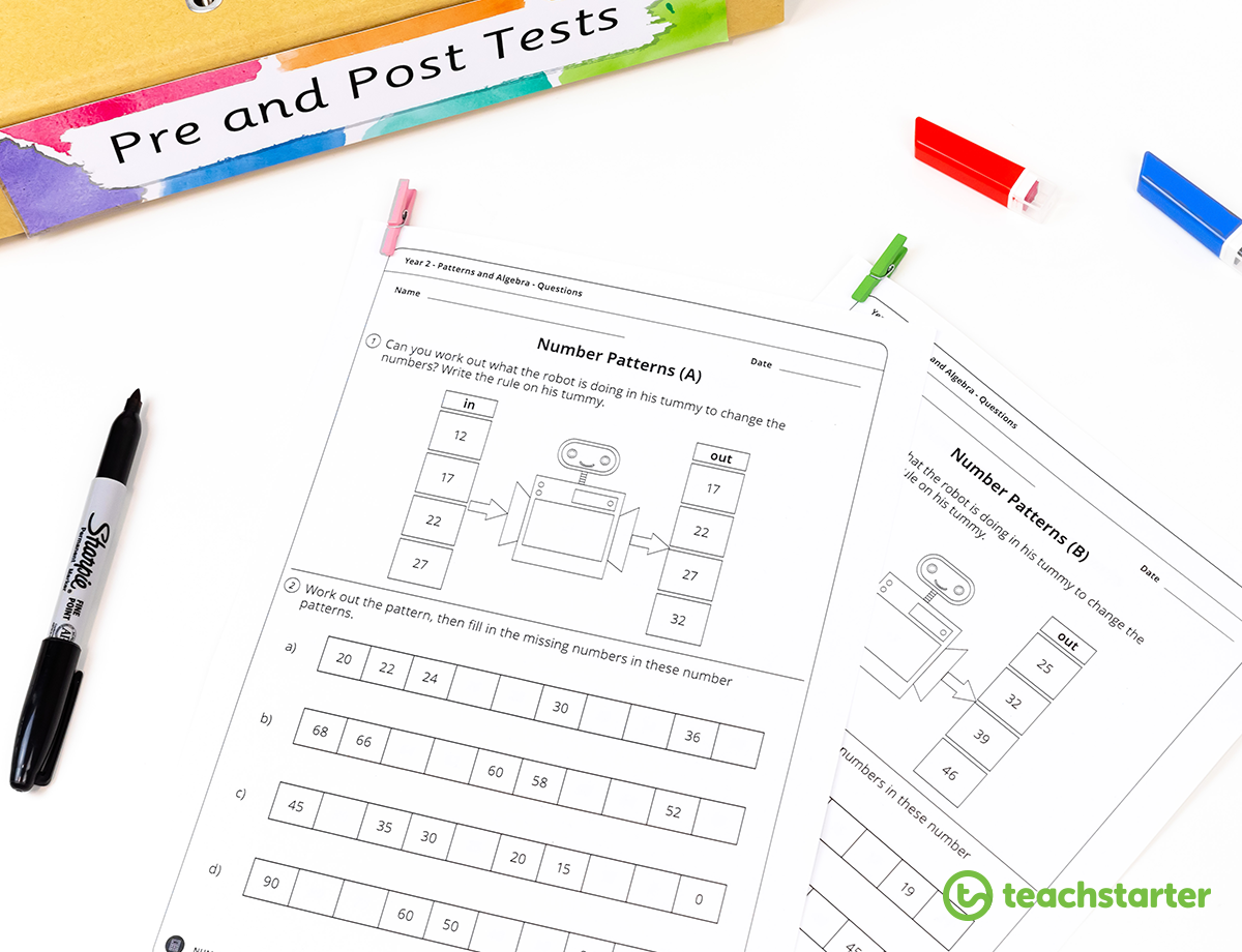 Pre and Post Tests Resource Collection | Teach Starter