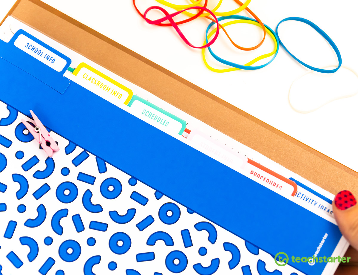 Substitute Teaching Folder templates for classroom teachers