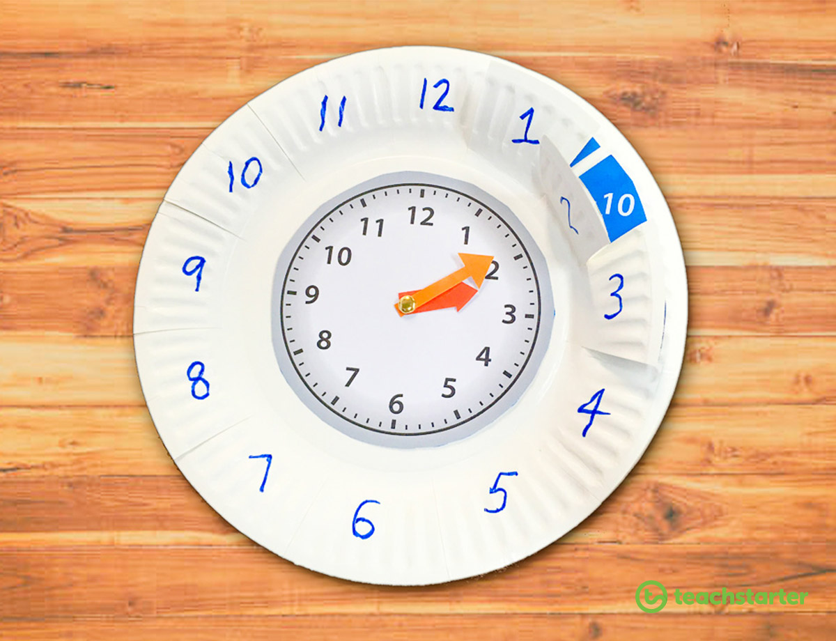 45 Sustainable Practices for the Environmentally Friendly Classroom - Paper Plate Clock