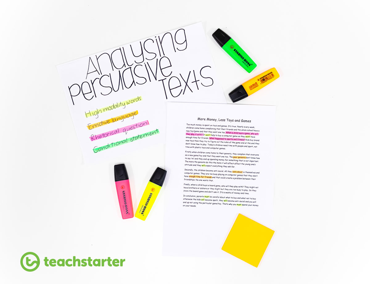 Teaching Persuasive Writing to Students Classroom Resources