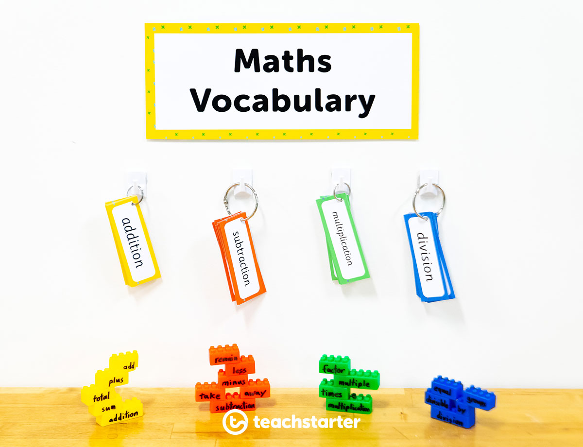 Maths terminology teaching ideas