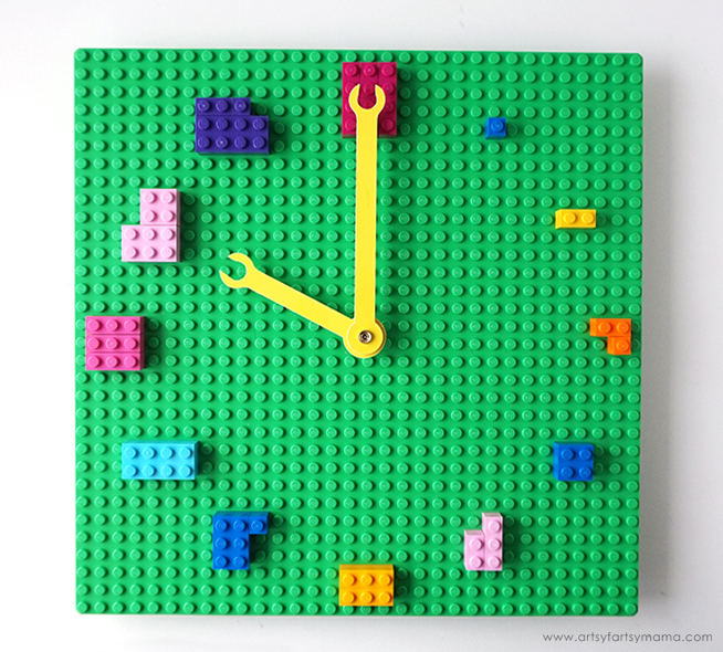 Lego classroom clock numbers correspondence math learn time