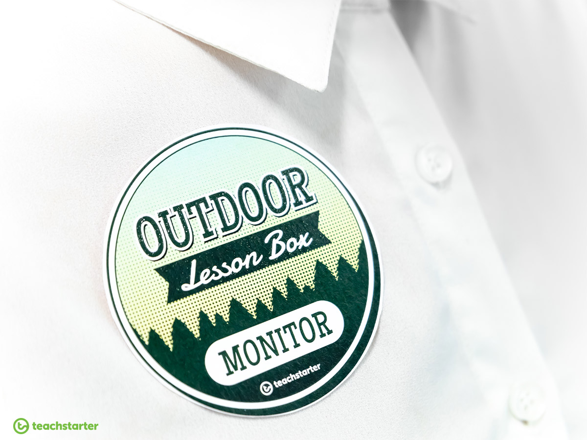 Outdoor Lesson Box Monitor Badge