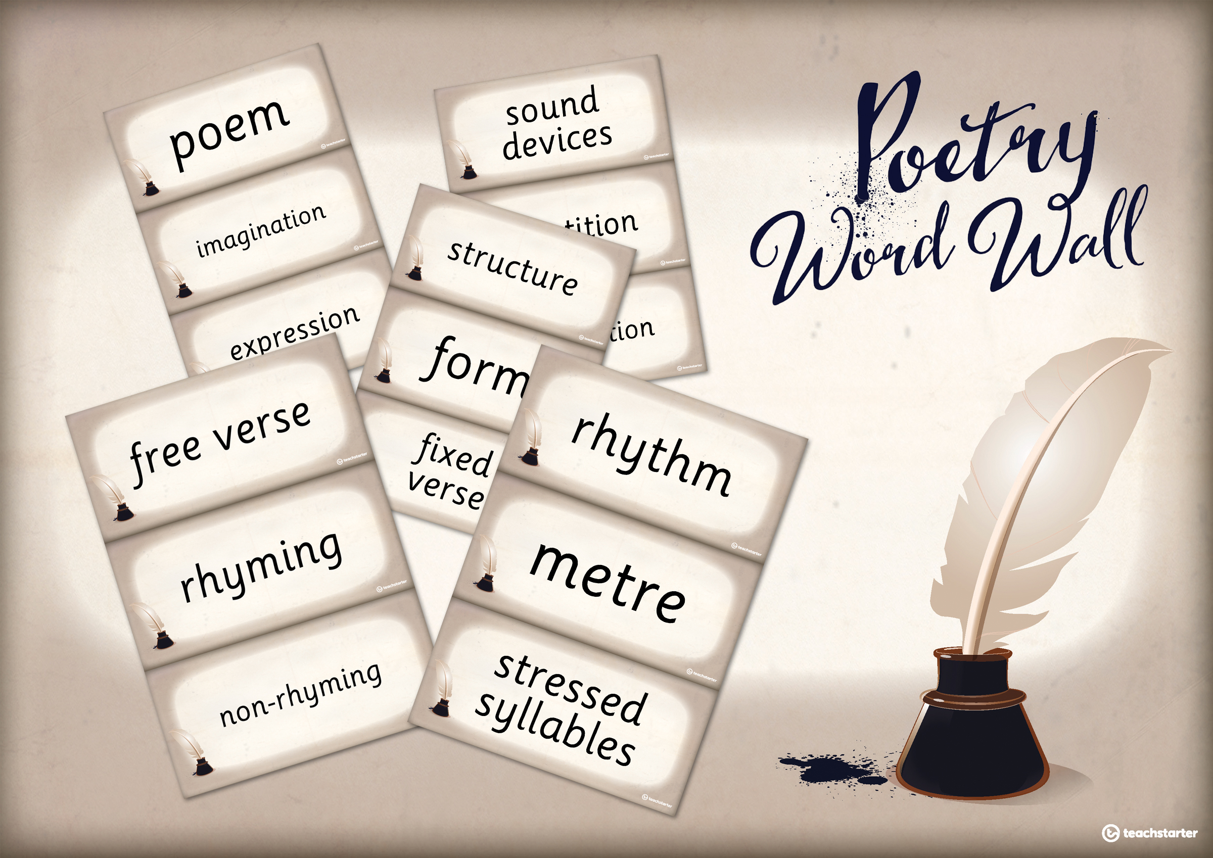 how to teach poetry resources poetry word wall