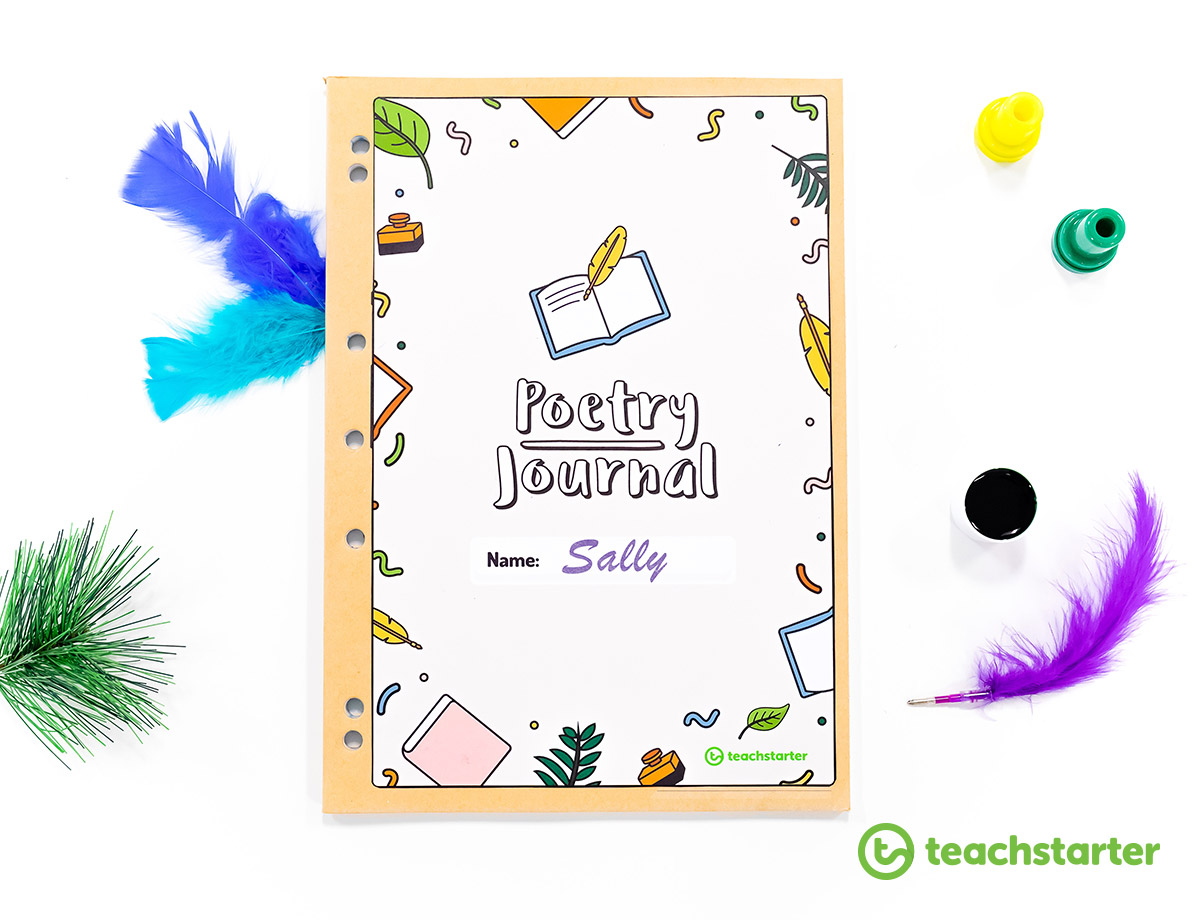 how to teach poetry to kids poetry resources collection folder cover