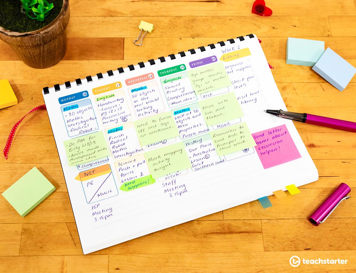 Sticky Notes for Teacher Planner