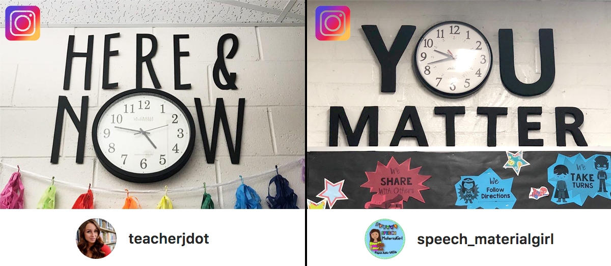 instagram classroom clock learning teaching time math