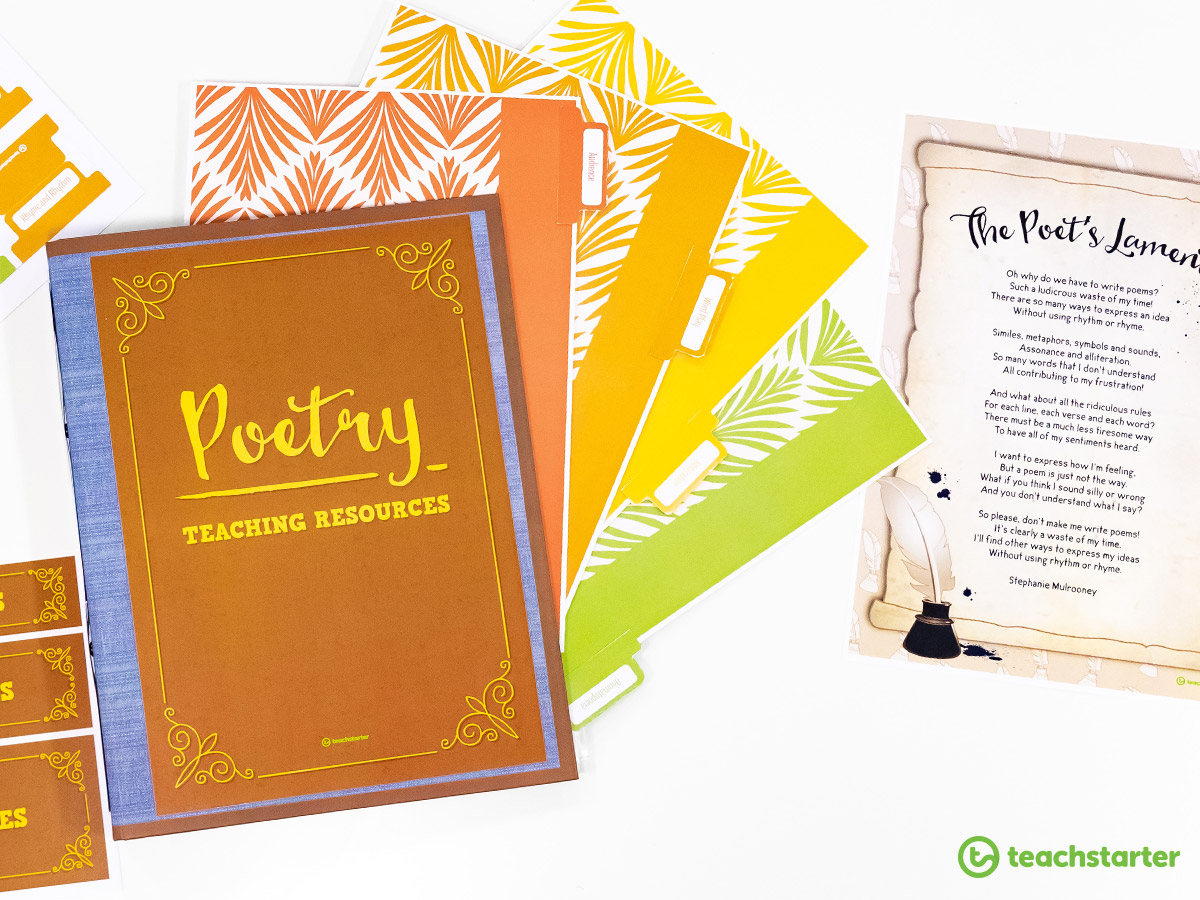 Poetry resource folder how to teach poetry to kids teachers classroom