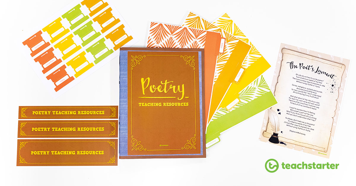 how to teach poetry to kids poetry resources collection folder