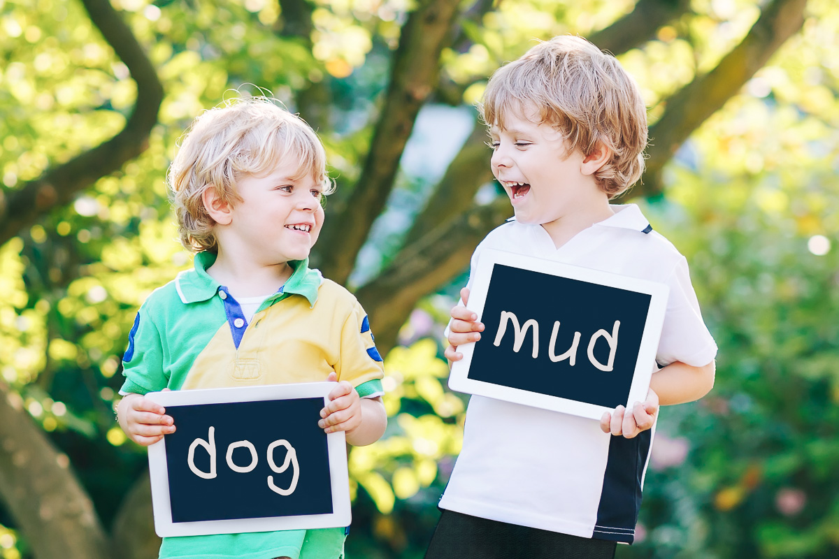 Outdoor Learning Spaces - Spelling outdoors