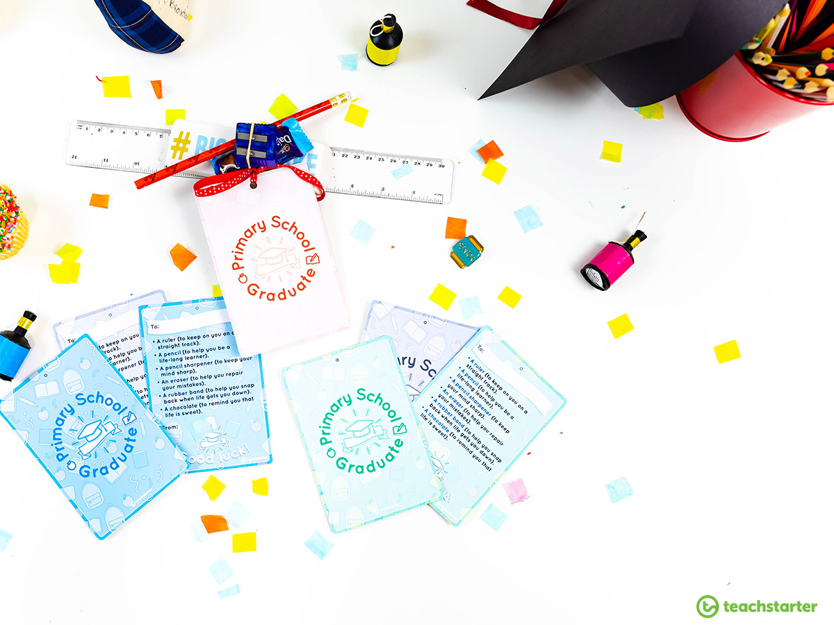 Primary School Graduation Gift Tags