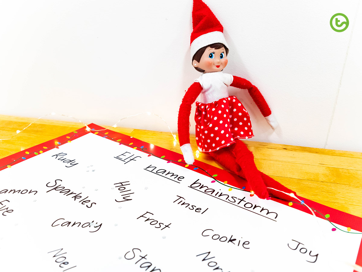 Elf on the Shelf in the Classroom - name your elf