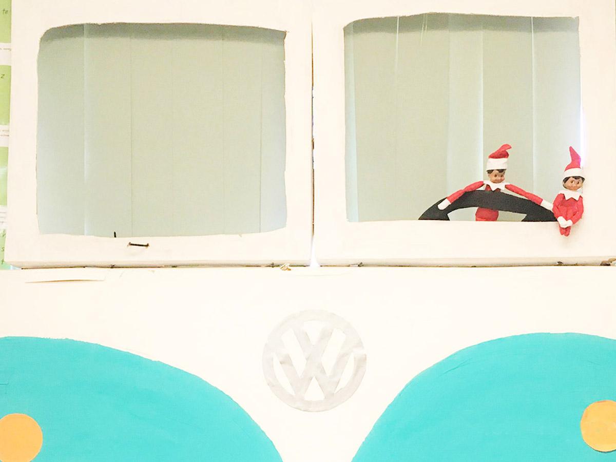 Elf on the shelf - on the bus