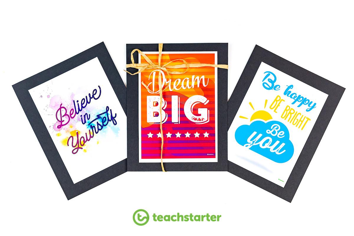 Positivity Poster Student Gift from teacher