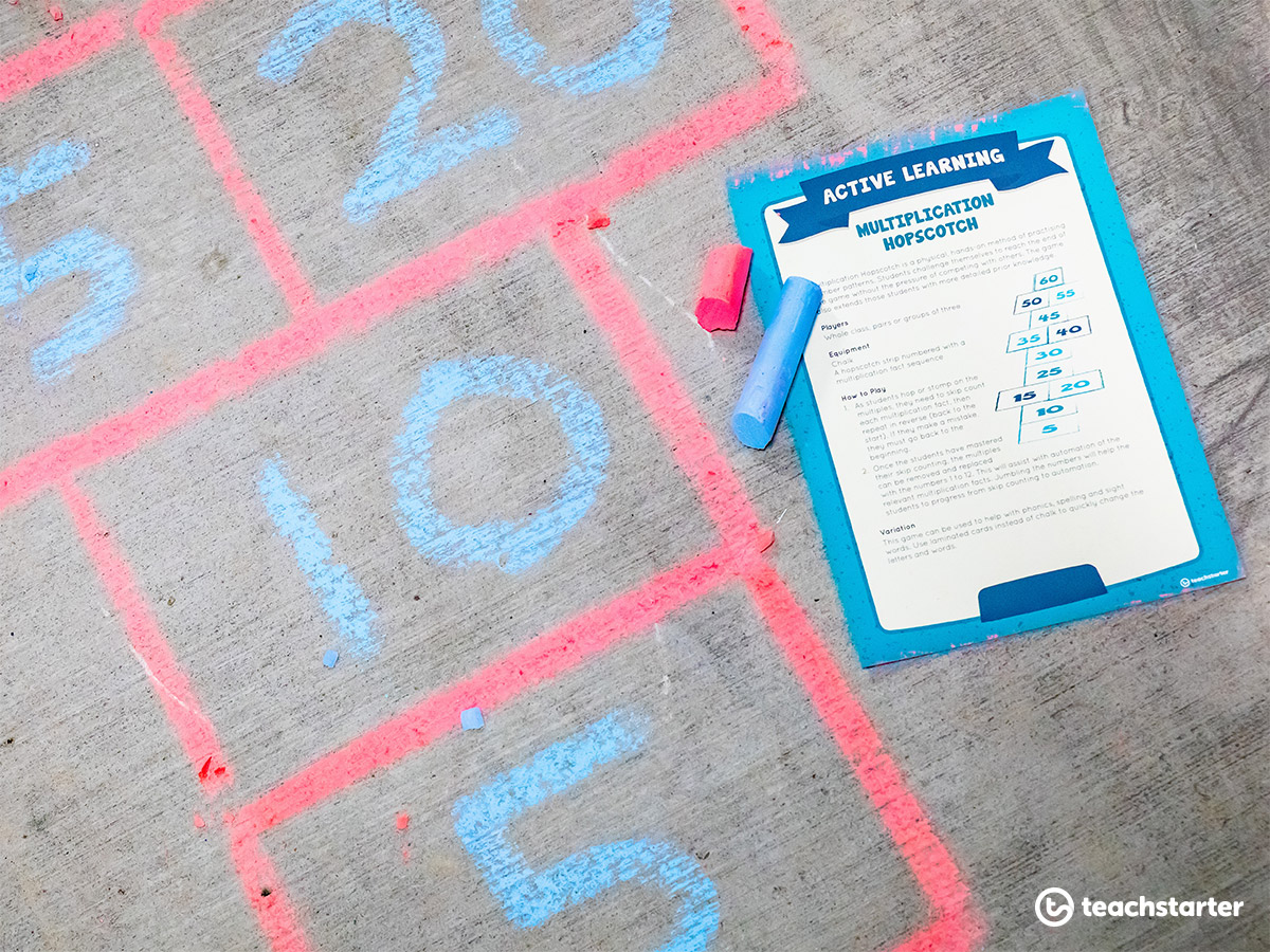 Learning Through Play - Multiplication Hopscotch