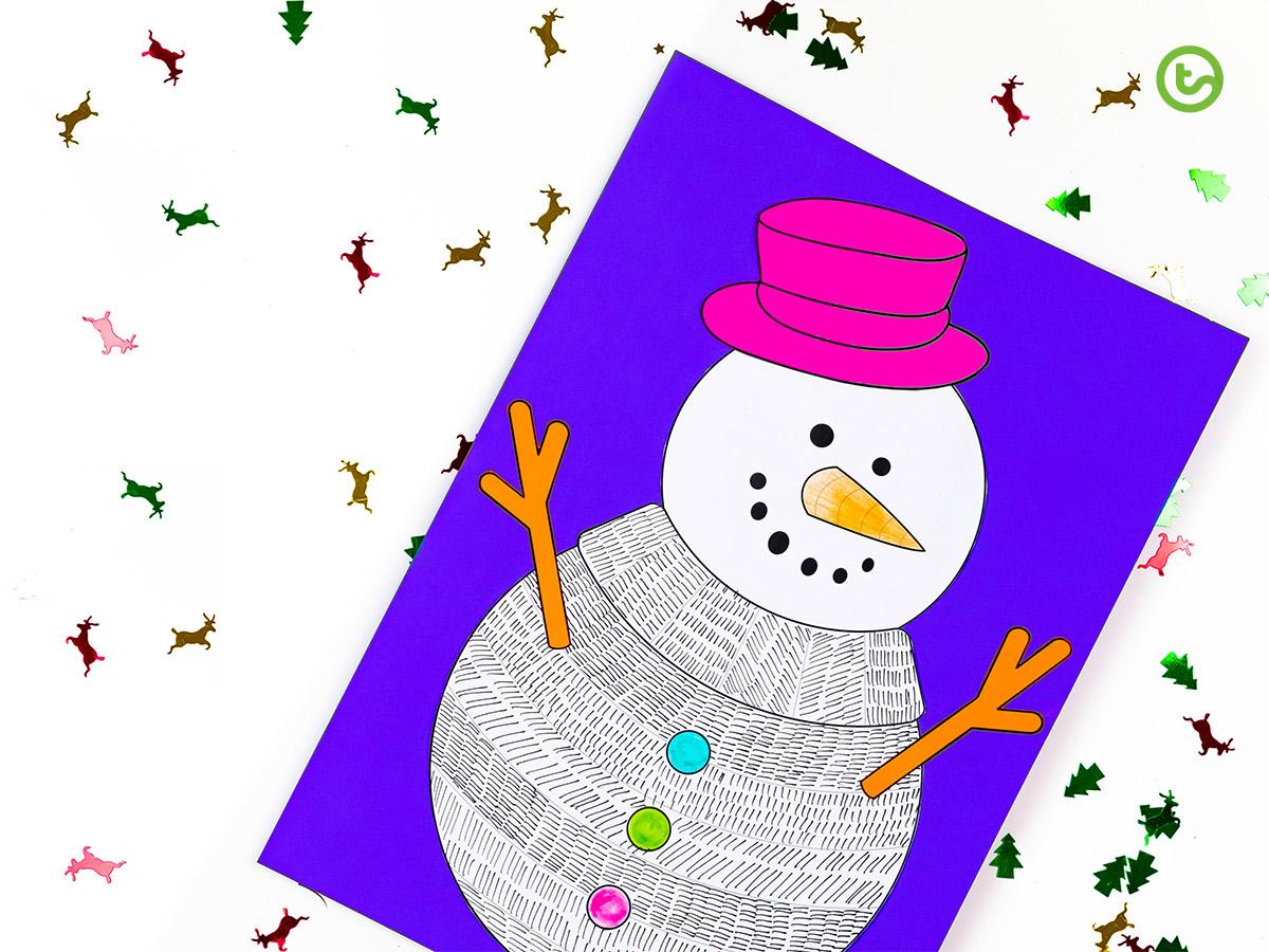 Funky Snowman Craft