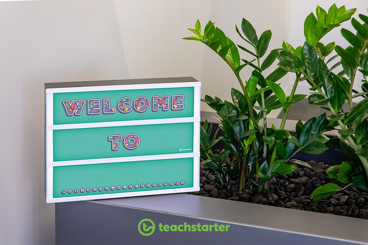 light box inserts for classroom welcome sign class