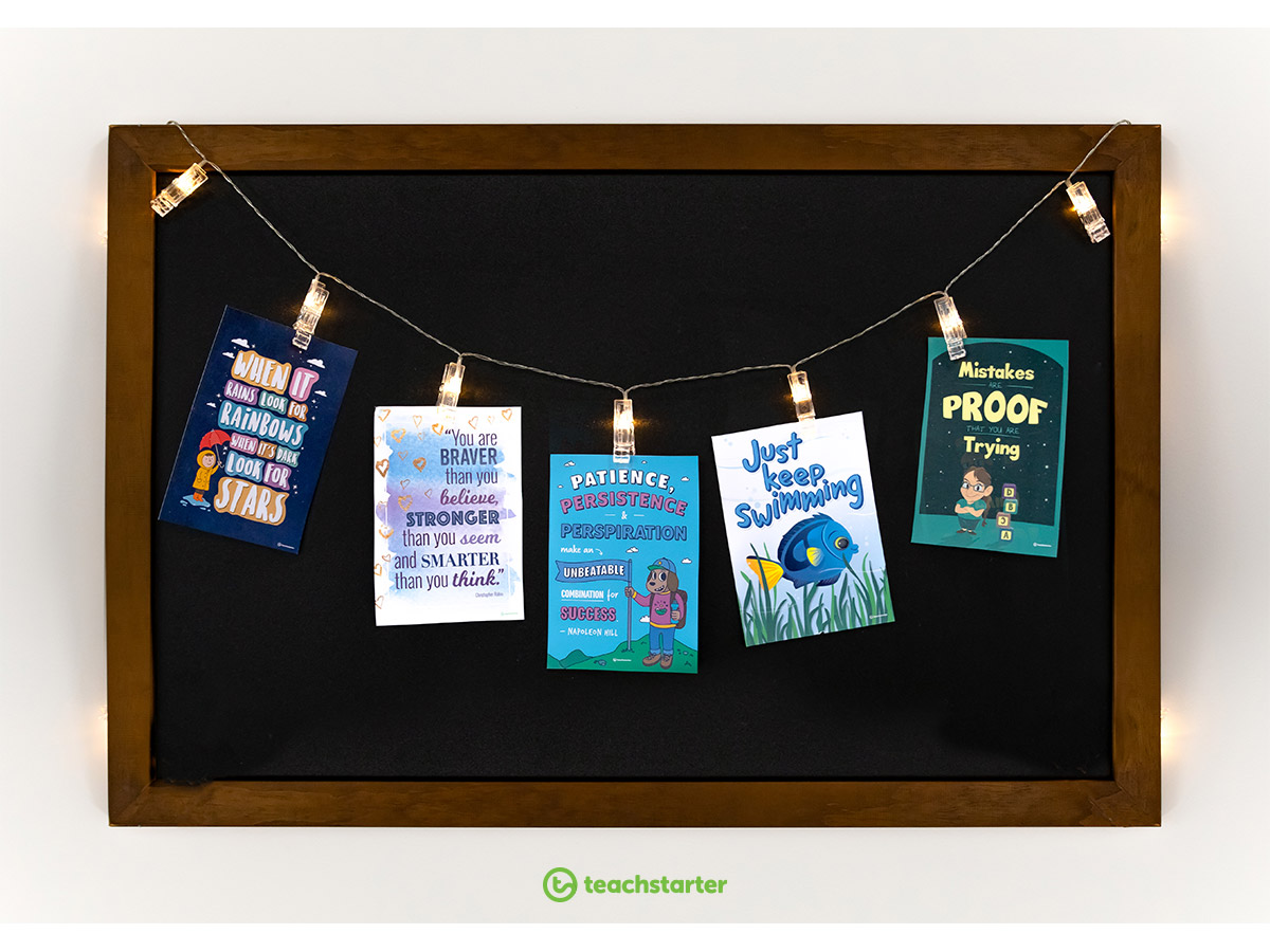 Effective classroom displays - motivational posters