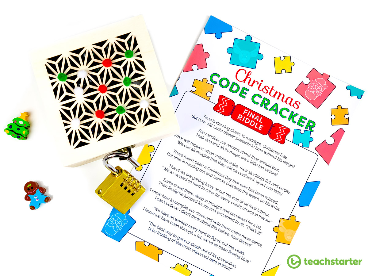 End of Year Activities | Christmas Code Cracker Puzzle Fun