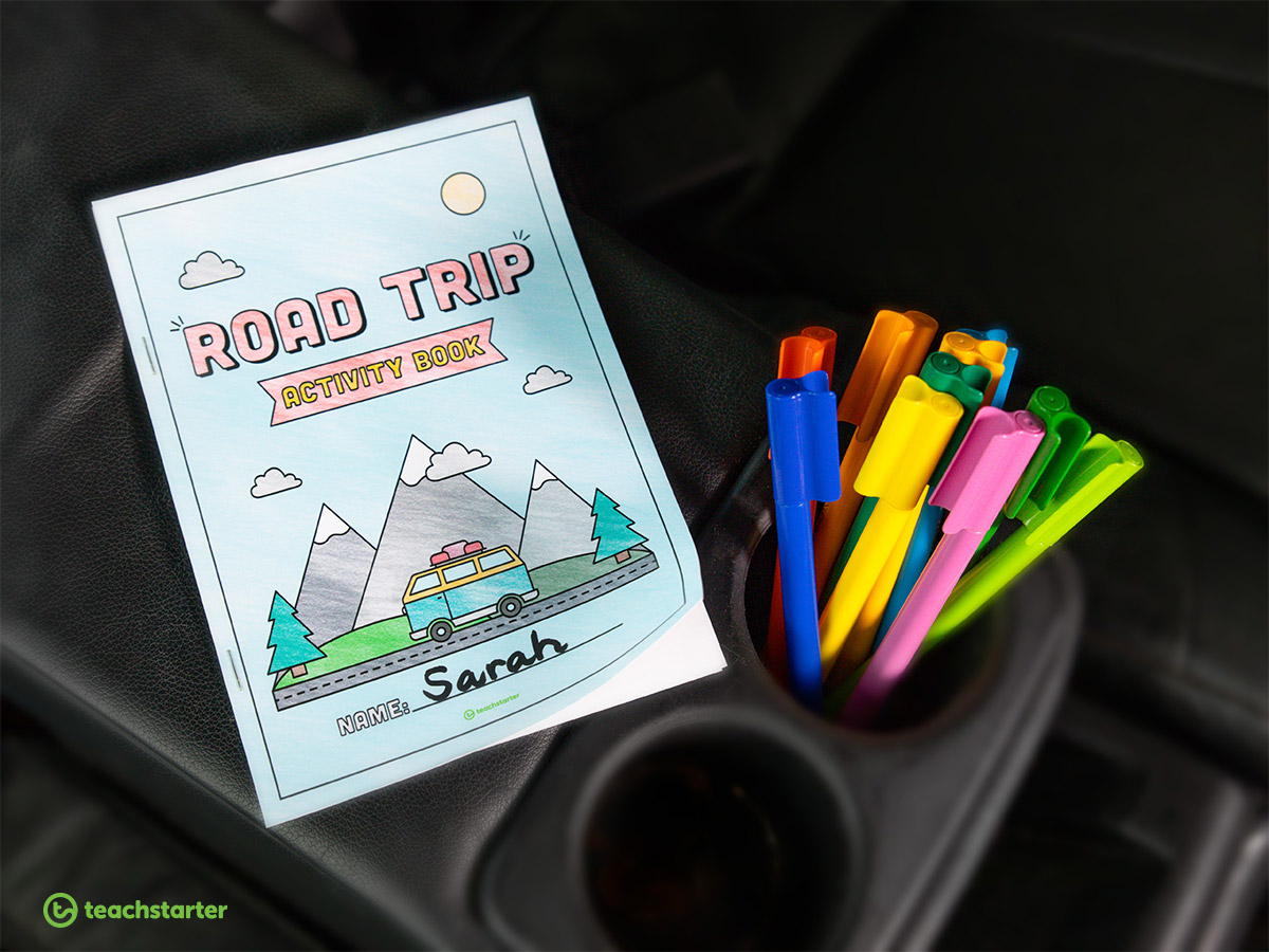 Road Trip Activities Book Cover Page