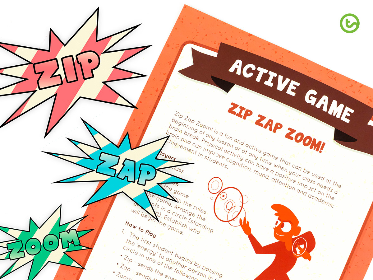 an active game, perfect for the first day of school.