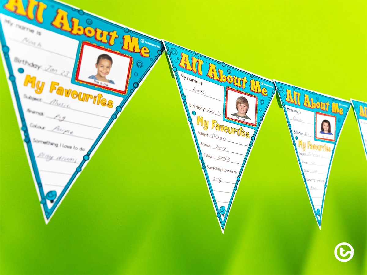 First Day of School Things to Do Now - Student Bunting