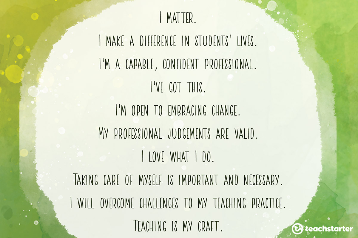 You Matter daily affirmations for teachers