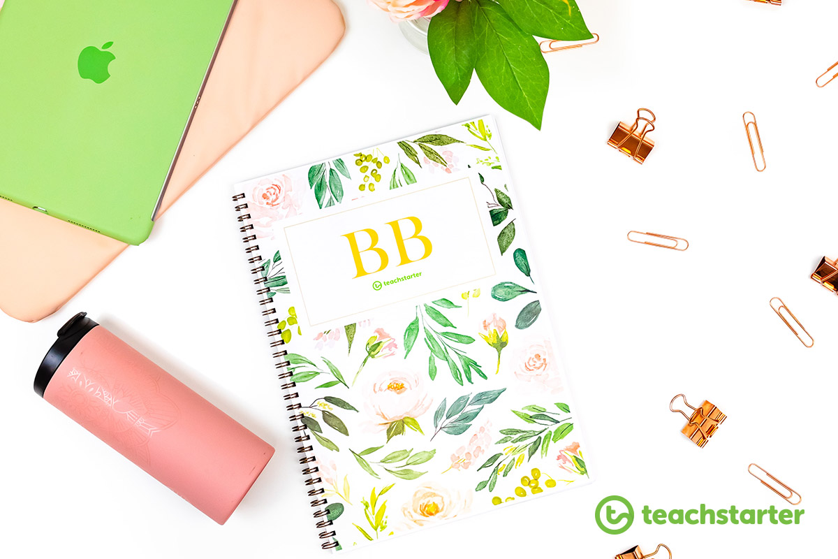 Blush Blooms Editable Teacher Planner Diary Best Ever