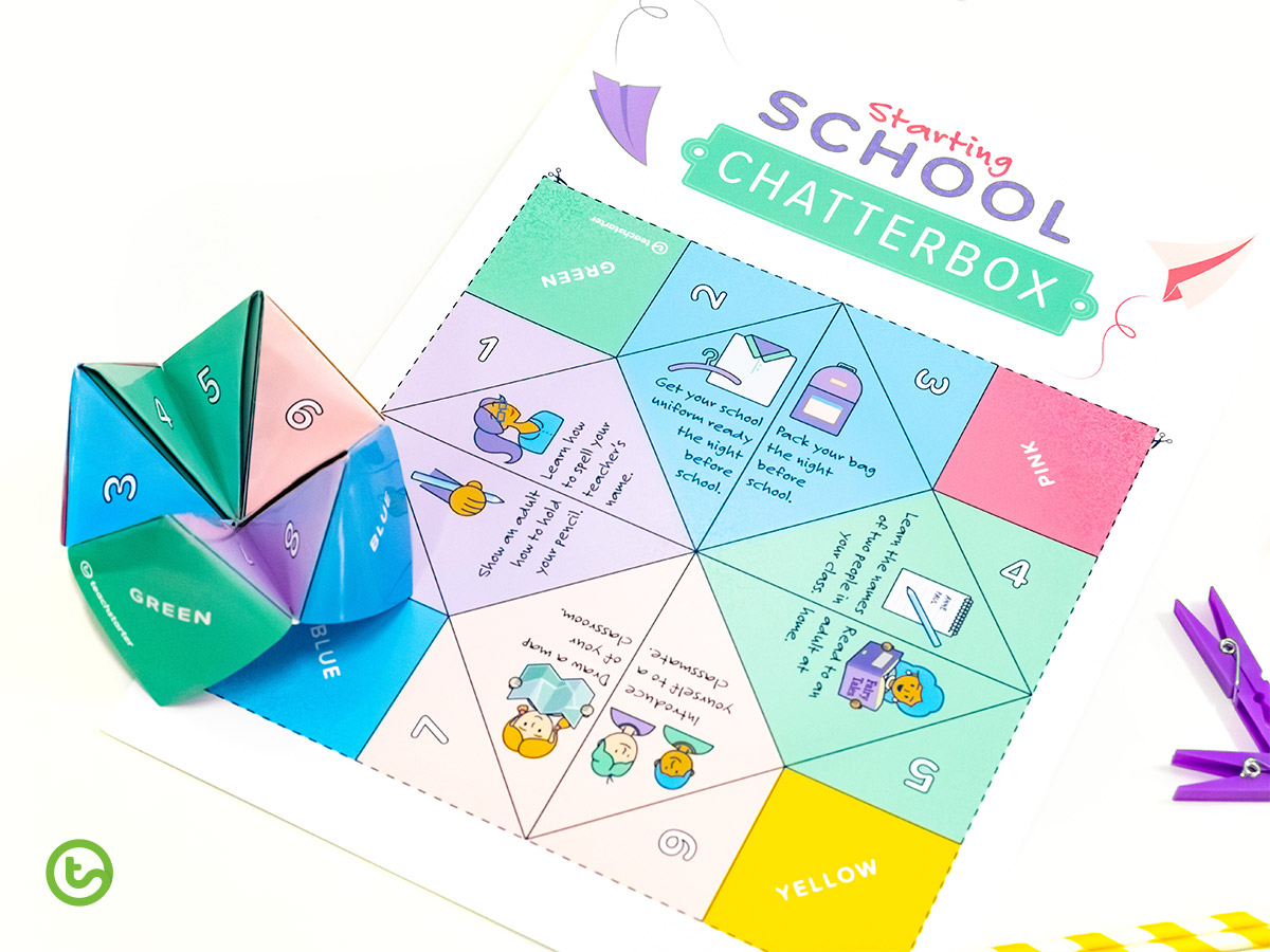 Back to School Book School Chatterbox