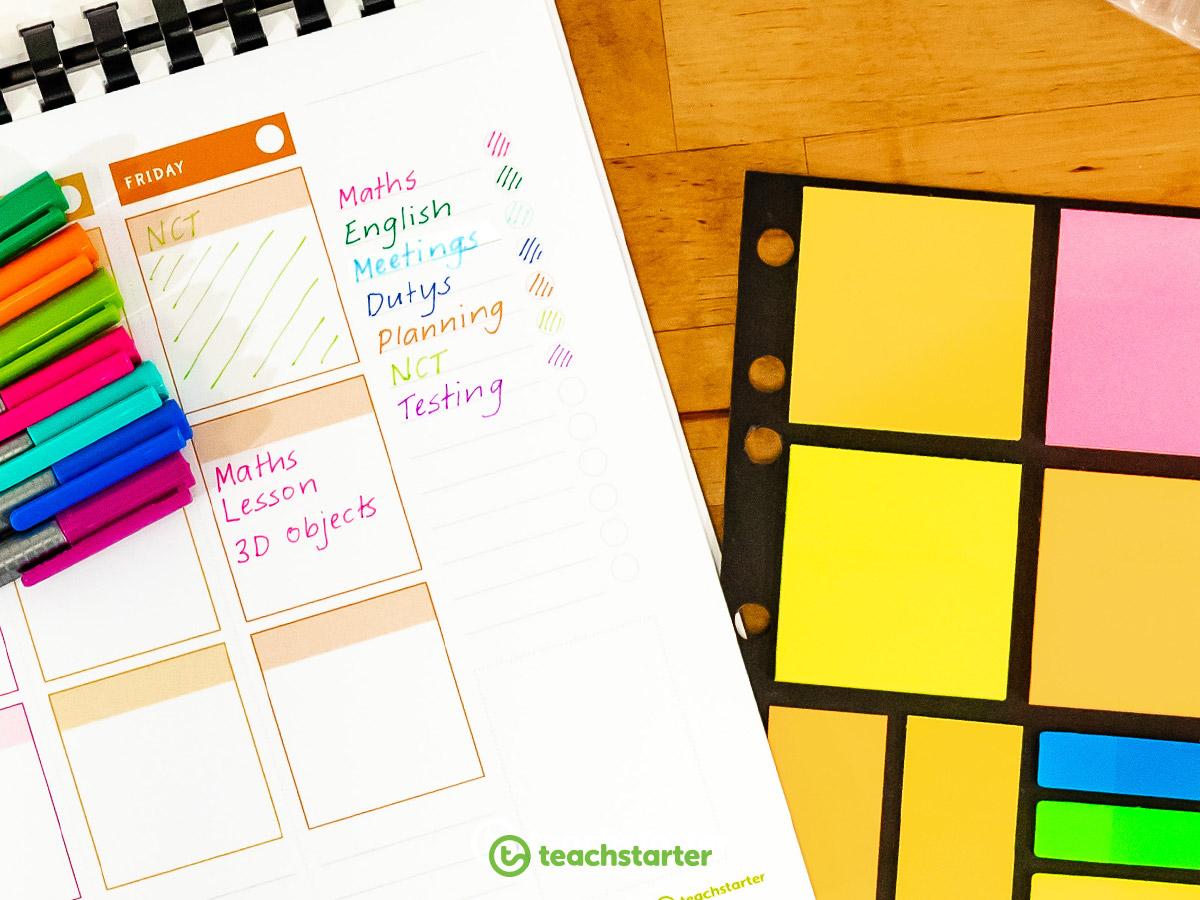 Colour Coding your Teacher Planner