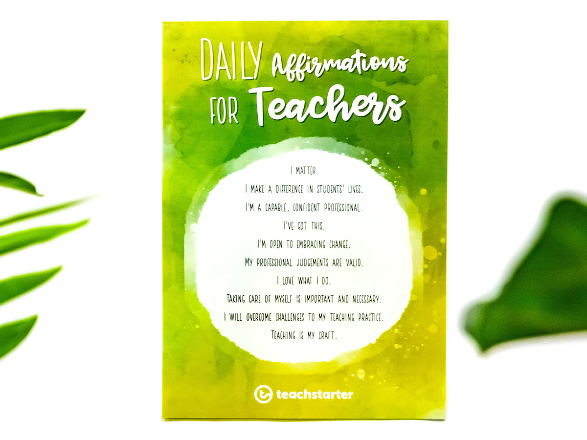 Daily Affirmations for Teachers Poster
